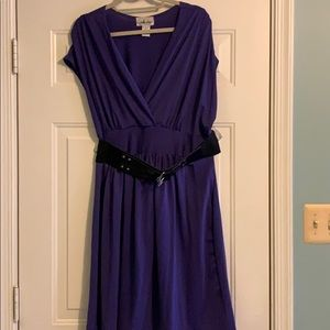 Dresses & Skirts - Purple belted dress
